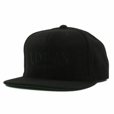 Black Wool Flexfit Cap