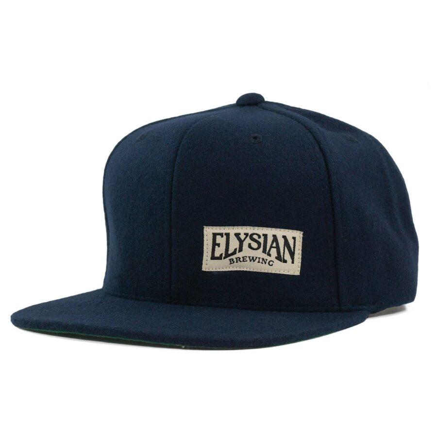 Navy Wool Flexfit Cap