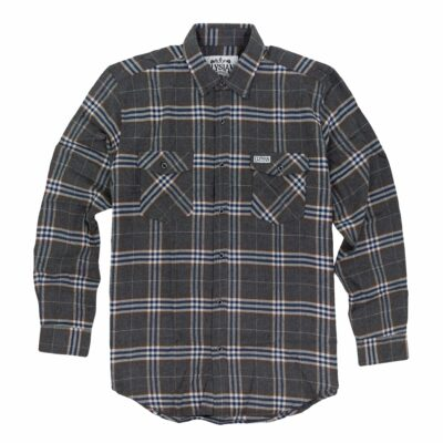 Men's Grey Plaid Flannel