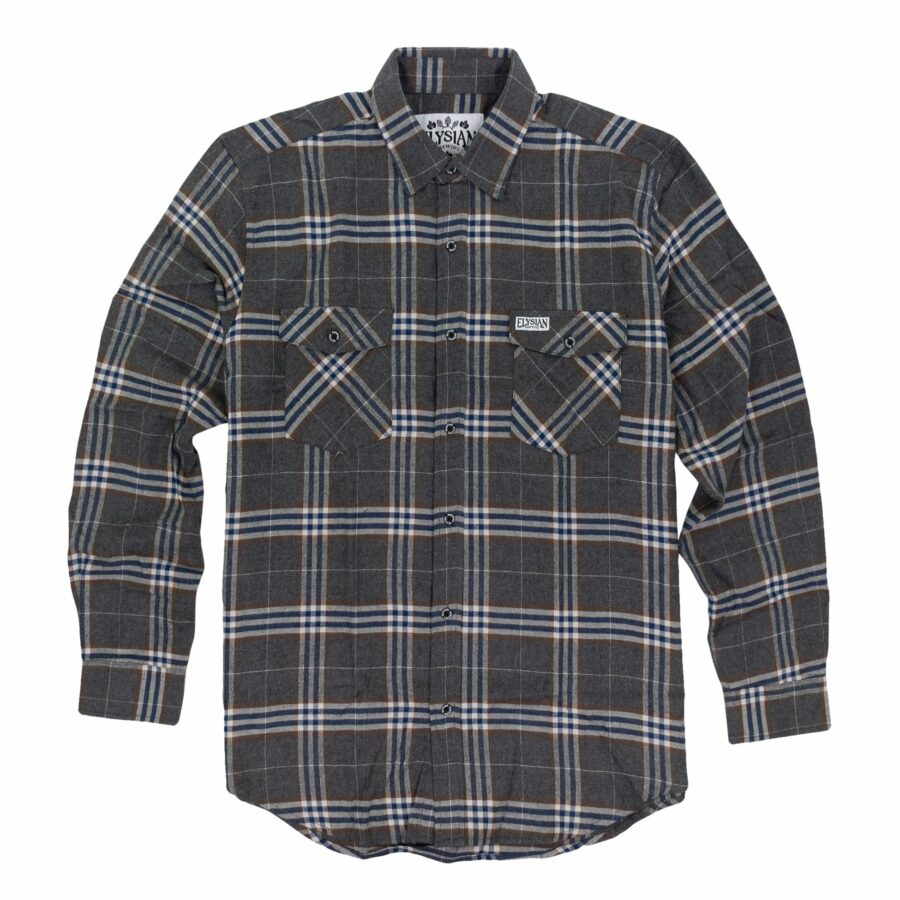 Men's Grey Plaid Flannel